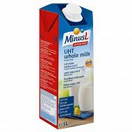 Minus L lait uht entier sans lactose 1l