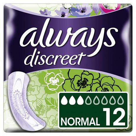 Always discreet serviettes incontinence normal X12