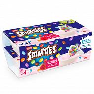 Smarties yaourt à la fraise 4x120g