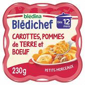 Blédichef mijoté carottes pomme de terre et boeuf dès 12 mois 230g
