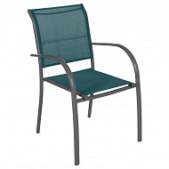 Fauteuil pIazza canard/graphite
