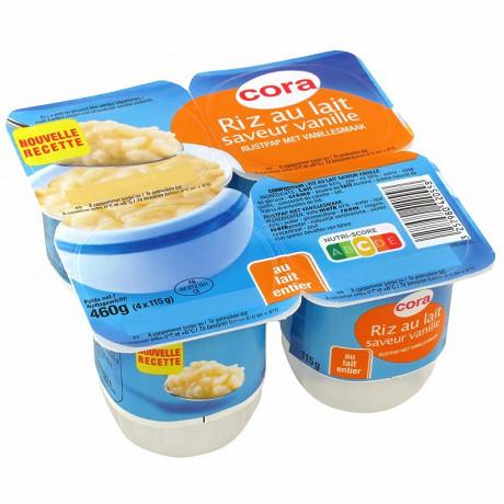 Cora riz au lait saveur vanille 4x115g