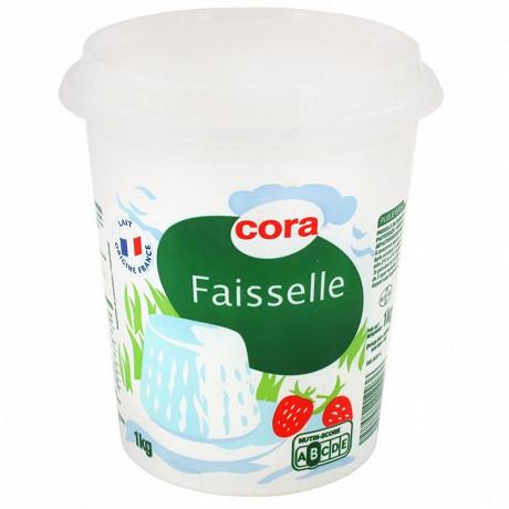 Cora faisselle au lait et à la crème pasteurisés 6% MG 1 kg