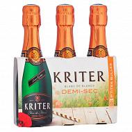 Kriter demi-sec vin mousseux de qualité 3 x 20 cl 11.5%vol
