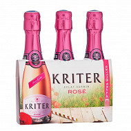 Kriter vin mousseux rosé 3 x 20cl 11.5% Vol.