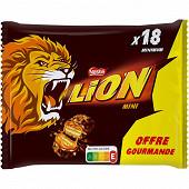 Lion mini barres chocolatées offre gourmande sachet 350g
