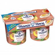 Mamie nova yaourt gourmand pêche 2x150g l'offre de mamie