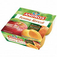 Andros spécialité de pommes et d'abricots 4x100g