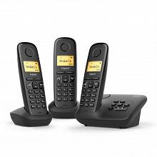 Gigaset Téléphone sans fil avec répondeur AL370A TRIO NOIR