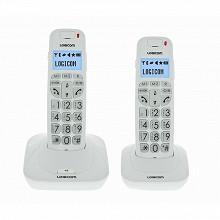 Logicom Téléphone sans fil dect CONFORT 250 BLANC
