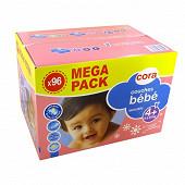 Cora baby couches bébé taille 4+ (9 à 20kg) méga pack x96