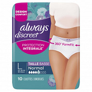 Always discreet culottes incontinence normal taille L X10