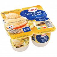 Cora semoule au lait saveur vanille 4x115g