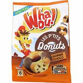 Whaou! p'tits donuts marbré chocolat x6 180g