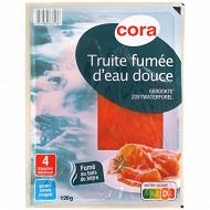 Cora truite fumée d'eau douce 4 tranches 120g