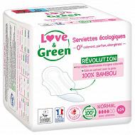 Love & green serviettes normales naturelles 0% x14