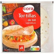 Cora 8 tortillas de blé souples 320g