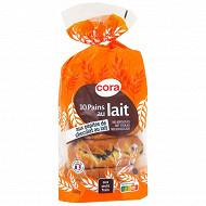 Cora 10 pains au lait pépites de chocolat au lait 350g
