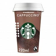 Starbucks boisson lactée au café arabica et saveur cappuccino 220 ml