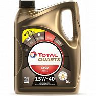 Huile total quartz 5000 15W-40 diesel