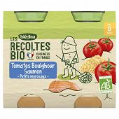 Bledina les récoltes bio pots tomates boulghour saumon dès 8 mois 2x200g