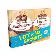 Vahiné lot sucre madagascar et levure chimique x 10 sachets - 92g