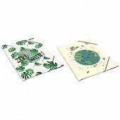 Clementina frog pochette a rabats decor ecololgie 24x32cm