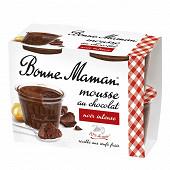 Bonne Maman mousse au chocolat noir et aux oeufs frais 4x50g