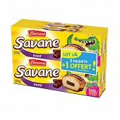 Brossard savane pocket barr chocolat lot de 3+1 offert 756g