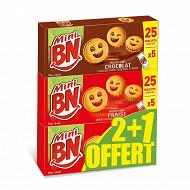 Mini BN mixte 1 chocolat + 2 fraise (lot de 2+1 offert)