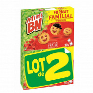 Mini bn famille fraise 350g x 2
