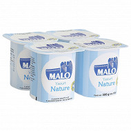 Malo yaourt nature pot plastique 4x125G