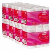 Cora papier toilette blanc 96 rouleaux x 2 plis soft