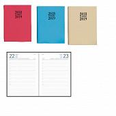 Agenda Academic 12x16.5 cm 384 pages 1j/p couverture PVC assorties