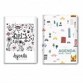 Agenda Academic 12x16.5 cm 384 pages 1 jour par page décors filles
