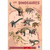 Poster dinosaures 52x76cm