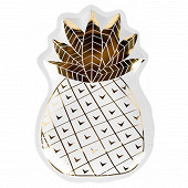 Assiettes x8 forme ananas