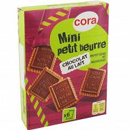 Cora mini petit beurre tablette de chocolat au lait 112g