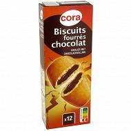 Cora biscuits fourrés chocolat 225g