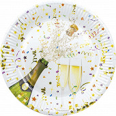 8 assiettes célébration métallic d 23cm