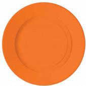 Assiettes rondes x10 orange 18cm