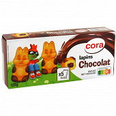Cora lapin fourrés chocolat 5x25g