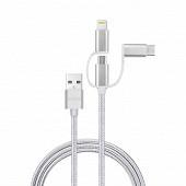 Câble de charge / Cordon smartphone 3 en1 Micro.USB - IPhone - TYPE C