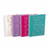 Oxford carnet floral intégral a6 100 pages 90 grammes petits carreaux