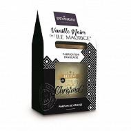 Bougie en contenant ovale vanille noire de l'ïle maurice