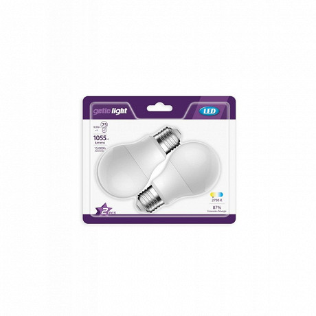 2 ampoules LED standards E27 - 75 watts - 1055LM