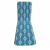Coussin bain de soleil 188x58x3 cm polycoton/lustrasil elunia bleu