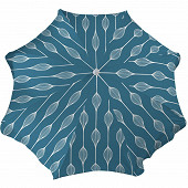 Anjosa parasol 180/8/22/25 mat inclinable aluminium elunia bleu