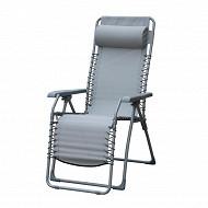 Relax multipositions 65.5 x 91 x 116 cm acier/enduit pvc gris