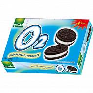 Biscuits cacao fourrés crème 176 g ( 4x44 g)